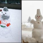 Foto: Foto. Cei mai amuzanți oameni de zăpadă de pe străzile Capitalei