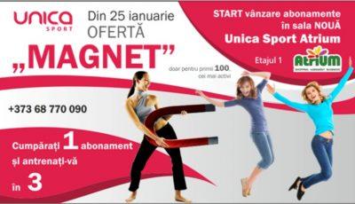 """Deschiderea Unica Sport Atrium! OFERTĂ """"MAGNET"""" 1=3, doar pentru primii 100, cei mai activi"""