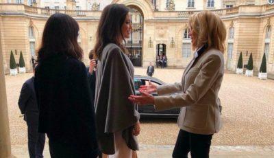 Angelina Jolie a fost primită de Prima Doamnă a Franței
