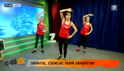 Cum slăbești după sărbători. Iată un set de exerciții care te vor ajuta să scapi rapid de grăsimea acumulată!