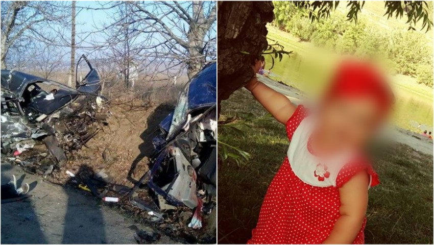 Foto: Ajutor pentru familia tinerei care și-a pierdut soțul și fiica de 1 an în accidentul de la Todirești