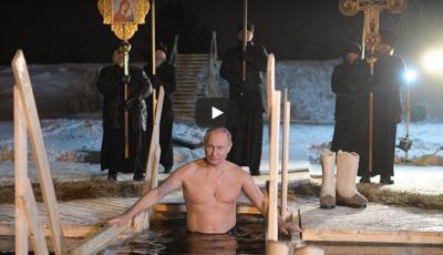 Video! Vladimir Putin s-a scufundat în apa rece ca gheața a unui lac