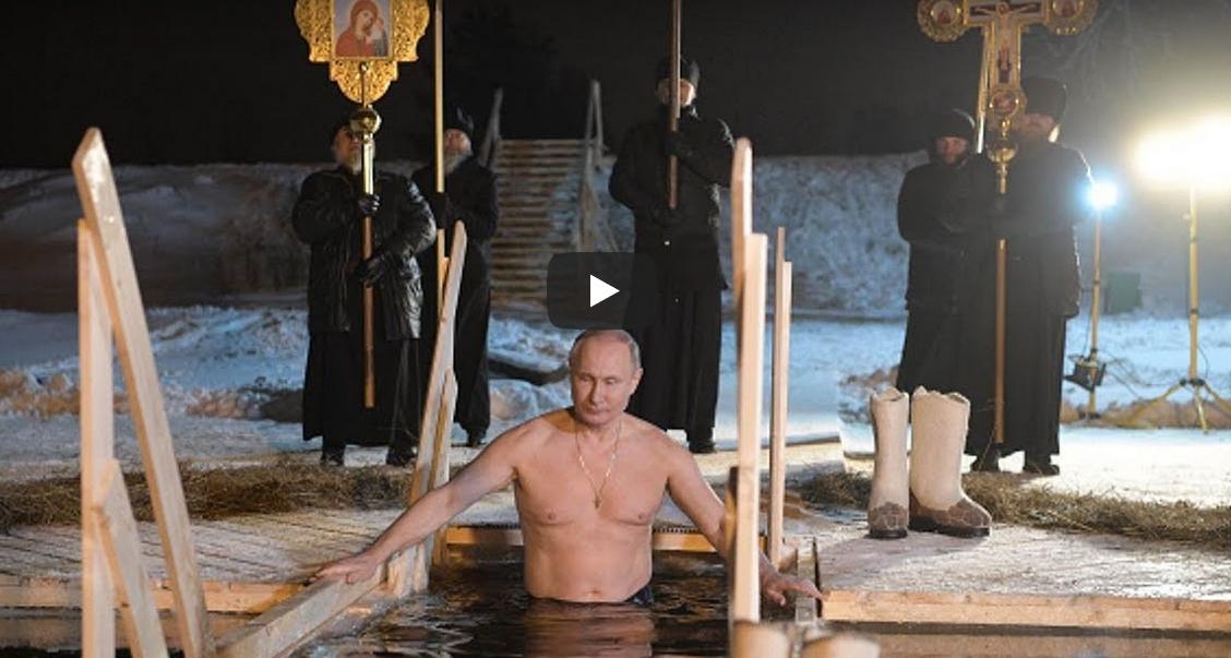 Foto: Video! Vladimir Putin s-a scufundat în apa rece ca gheața a unui lac