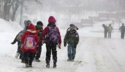 Peste 130 de elevi din mai multe raioane ale țării nu au putut ajunge azi la școală din cauza ninsorii