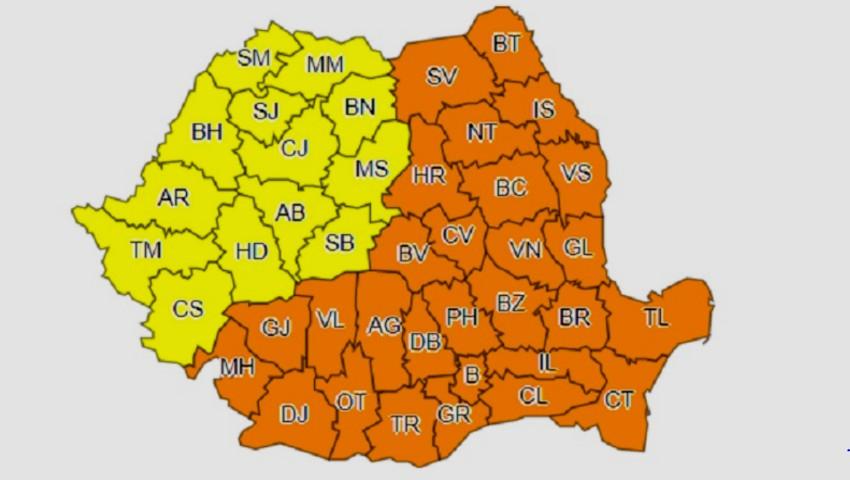 Foto: Ninsori și viscol în România! Meteorologii au emis cod portocaliu de ger în peste jumătate de țară