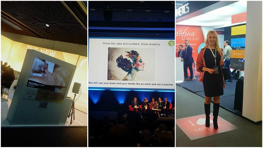 """Foto: Dr. Ecaterina Lica, despre inovațiile revoluționare în domeniul procedurilor de întinerire prezentate la ,,IMCAS Annual World Congress"""" 2018 din Franța!"""