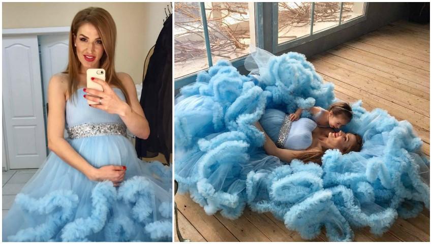 Foto: Tatiana Heghea, în ultima ședință foto înainte de naștere!