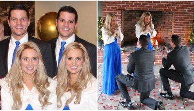 Doi frați gemeni au cerut în căsătorie două surori gemene. Cuplurile au decis să organizeze o nuntă comună