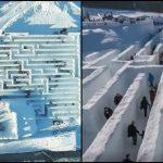 Foto: În Polonia se găsește cel mai mare labirint de zăpadă din lume! Video