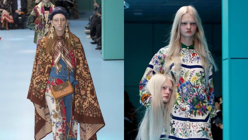 Foto: O moldoveancă a defilat pentru extravaganta prezentare de modă Gucci