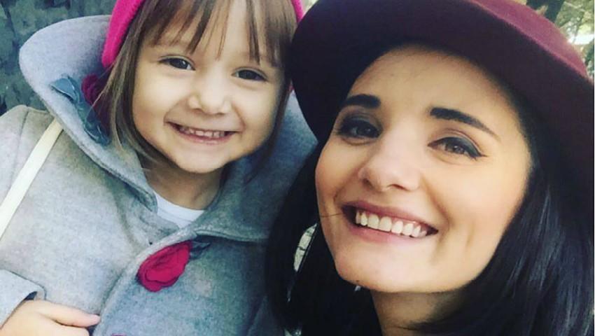 Foto: Fiica Liliei Ojovan, într-o ținută adorabilă de Dragobete!