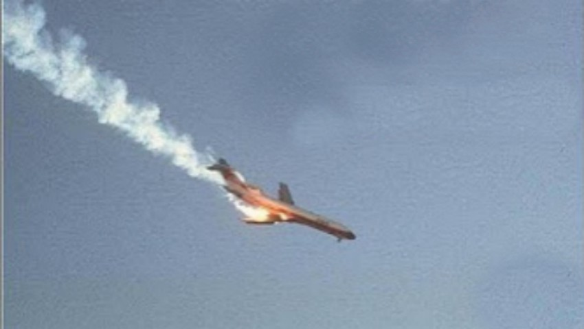 Foto: Video. Momentul prăbușirii avionului rusesc lângă Moscova a fost surprins de o cameră