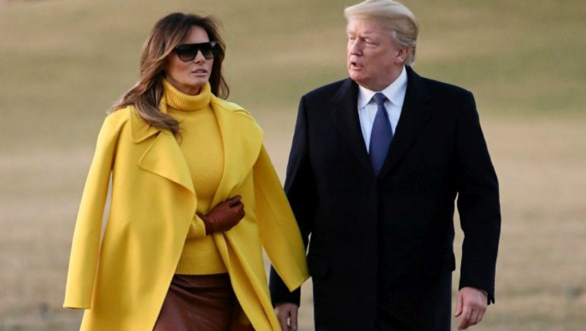 Foto: Melania Trump a eclipsat într-o haină galbenă! Vezi cum și-a asortat ținuta