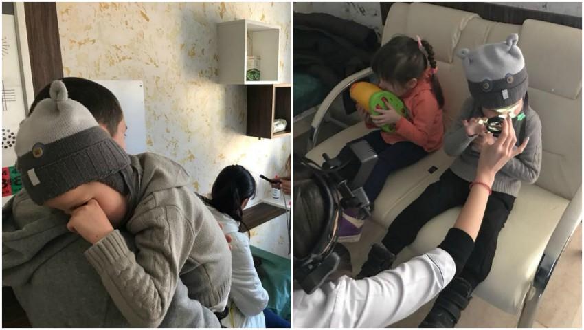 Foto: Ajutor pentru doi frățiori, în vârstă de 4 și 5 ani! Copiii s-au născut cu paralizie cerebrală și orbire