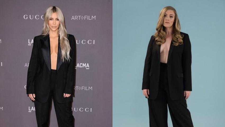 Foto: Cum arată femeile obișnuite în ținute asemănătoare cu cele purtate de Kim Kardashian?