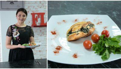 Află rețeta de piept umplut cu spanac și brânză de la Cristy Rouge