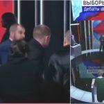 Foto: Video! Bătaie ca în filme, în direct la TV, între candidaţii la alegerile prezidenţiale din Rusia