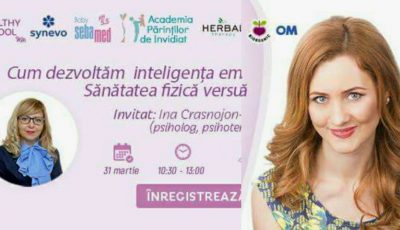 Maria Marian te invită la seminar: Cum dezvoltăm inteligența emoțională la copii