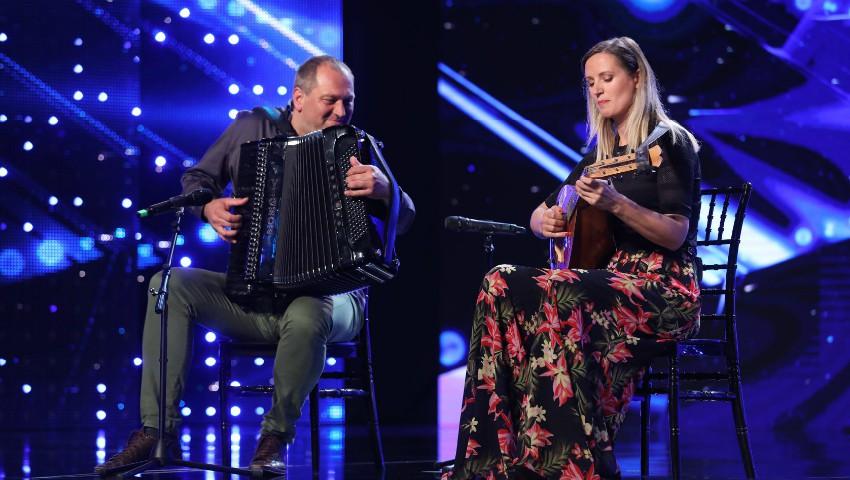 """Foto: Un cuplu de moldoveni a sosit tocmai din Veneția pentru a participa la ,,Românii au Talent"""""""