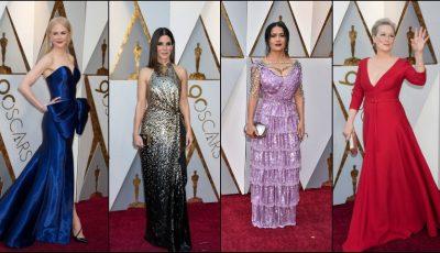 Premiile Oscar 2018! Ce ținute au purtat vedetele pe covorul roșu?