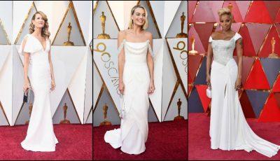 Vedete care au purtat alb la Gala Premiilor Oscar 2018!