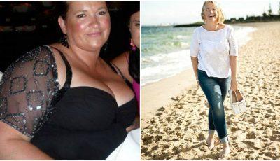 Această femeie a slăbit 30 de kg fără ajutor. Iată cum a reușit!