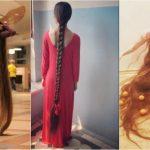 Foto: Uimitor! Lungimea părului acestei tinere măsoară peste 2 metri