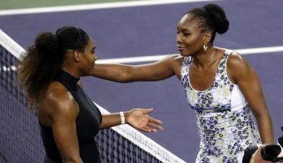 Serena Williams a fost învinsă de sora ei la Indian Wells. Video!
