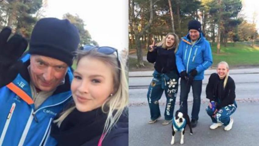 Foto: Președintele Finlandei a ieșit la plimbare în parc, fără pază și fără însoțitori