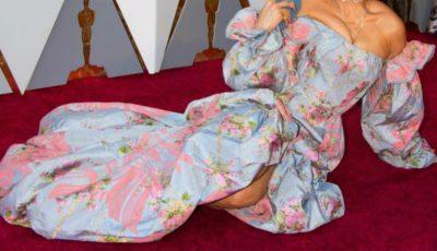 O celebră artistă s-a întins pe covorul roșu la Gala Premiilor Oscar 2018!