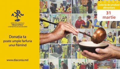 """Pe 31 martie, fii și tu parte a campaniei ,,Masa Bucuriei"""" lansată de Misiunea Socială ,,Diaconia""""!"""