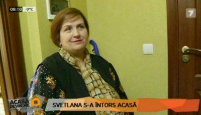 După șase luni de proiect, Svetlana Cveatcovscaia s-a întors acasă cu o siluetă nouă