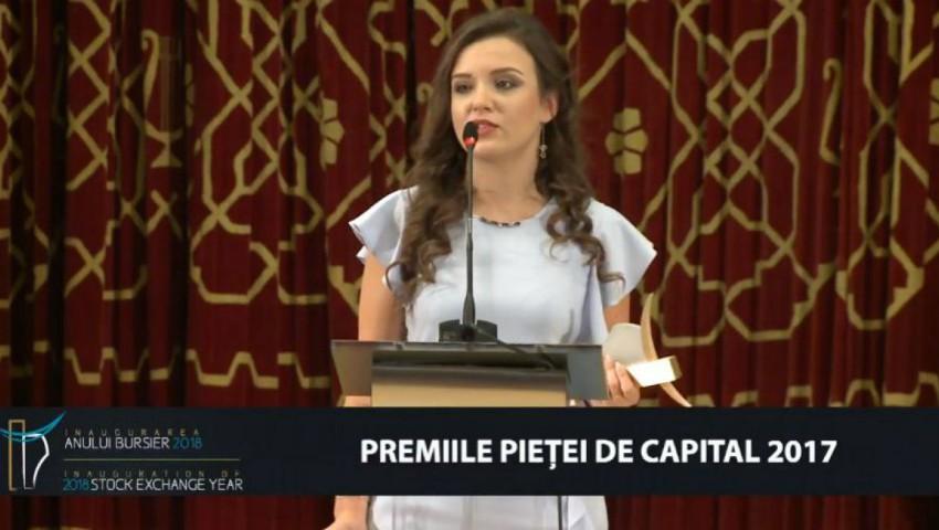 Foto: O moldoveancă a fost desemnată cel mai bun Investment Analyst al Bursei de Valori București