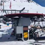 Foto: Scene șocante într-o stațiune de schi din Georgia. Un telescaun se rupe și aruncă oamenii în aer. Video