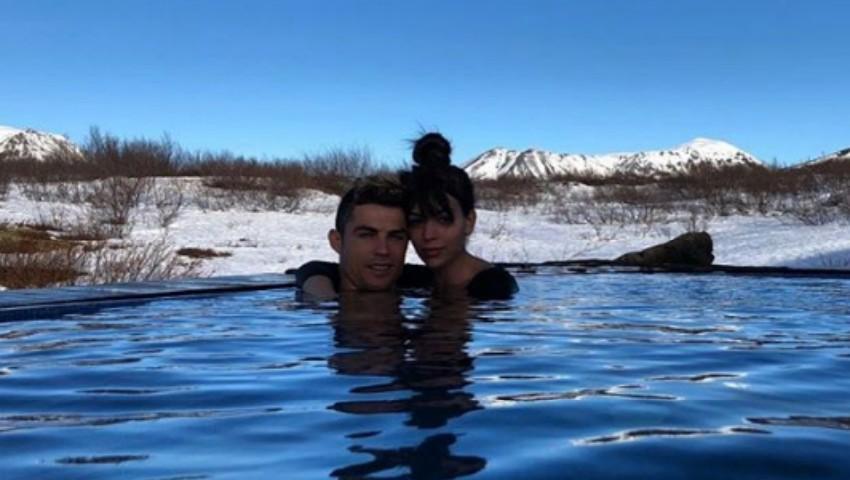 Foto: Cristiano Ronaldo și Georgina Rodriguez au plecat la munte împreună cu micuții lor! Poze
