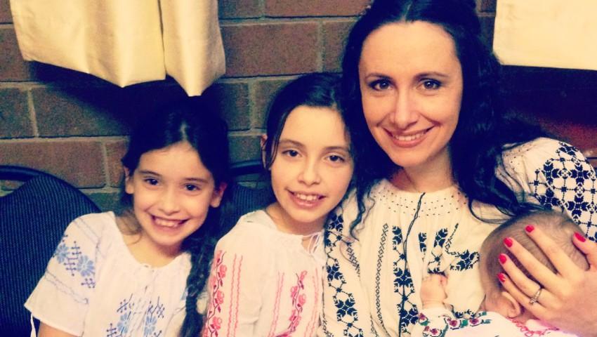 """Foto: Nata Albot, despre experiența maternității: ,,Pe Magda am născut-o în alte condiții"""""""