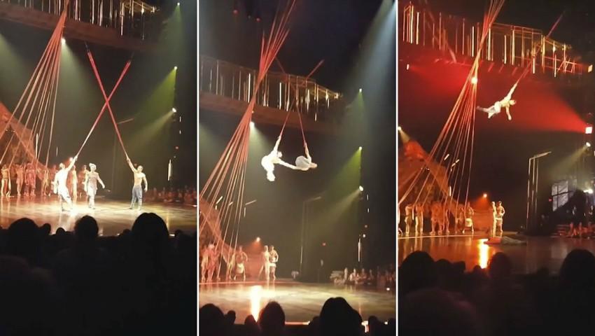 Tragedie mare la Cirque du Soleil. Un acrobat a căzut ieri în timpul numărului și a murit. Video