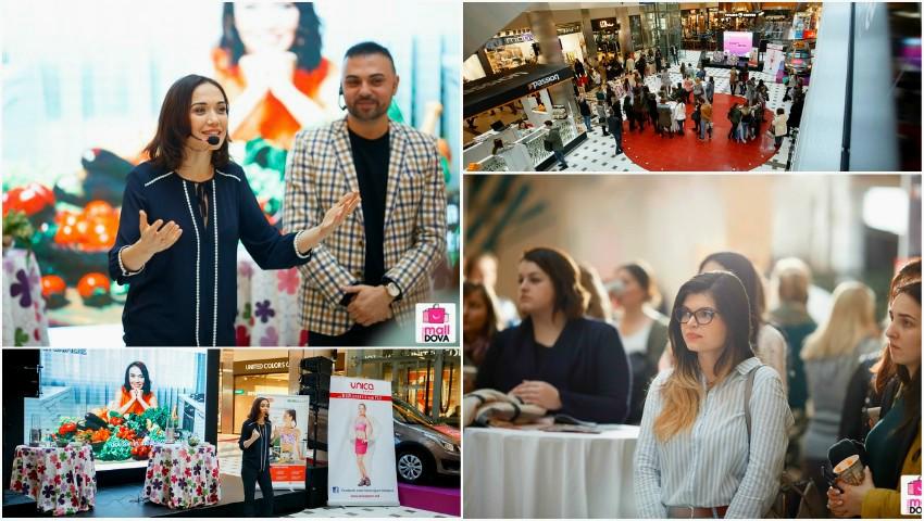 """Foto: Multe surprize și informații utile pentru un mod sănătos de viață, la seminarul gratuit """"Beauty&Detox"""" de la """"Shopping MallDova""""!"""
