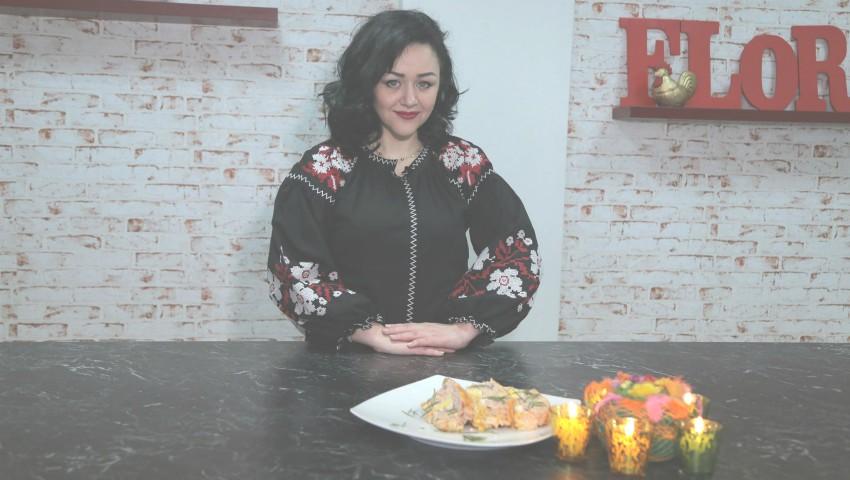 Foto: Ruladă de sărbătoare din carne de pui de la Lenuța Gheorghiță