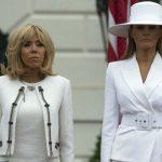 Foto: Ce ținute au purtat Brigitte Macron și Melania Trump în timpul vizitei de stat a președintelui francez în Statele Unite