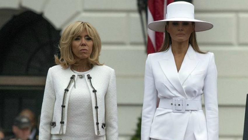 Ce ținute au purtat Brigitte Macron și Melania Trump în timpul vizitei de stat a președintelui francez în Statele Unite