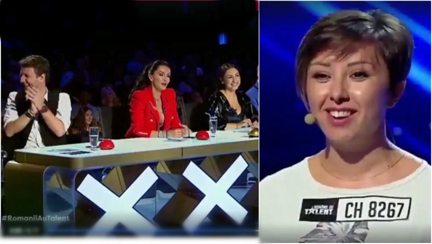 Foto: Românii au Talent! O moldoveancă i-a făcut pe jurați să rădă, dar nu a trecut de preselecții