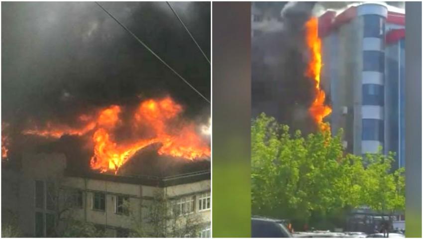 Foto: Cele două incendii din Capitală au fost localizate! Nu sunt victime