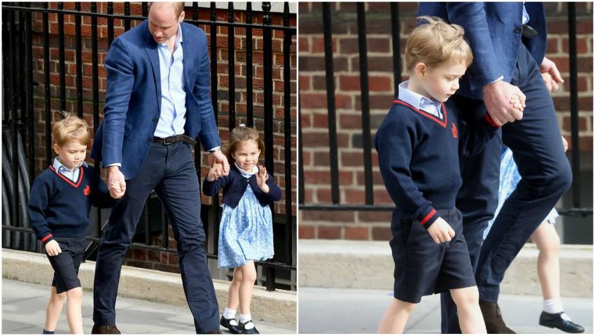 Foto. Prințul George și Prințesa Charlotte și-au cunoscut frățiorul