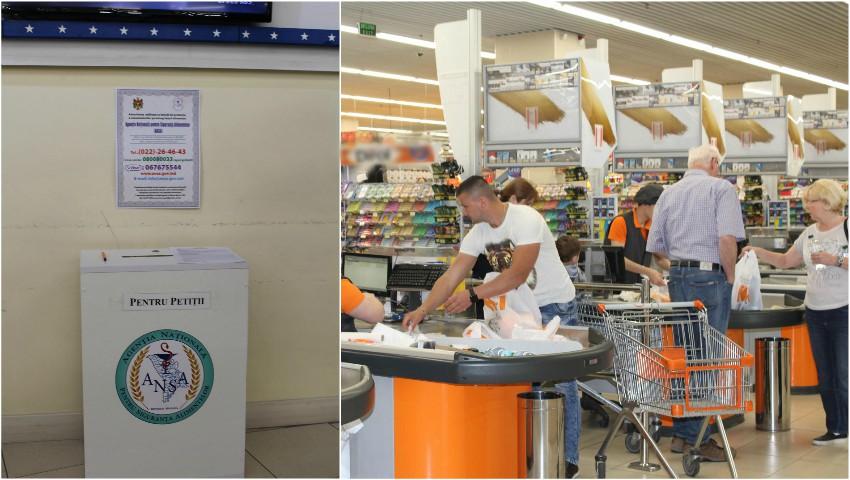 Foto: ANSA a instalat prima boxă pentru petiții, într-un mare magazin din Capitală