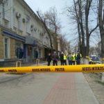 Foto: Alertă cu bombă la Victoriabank din Capitală
