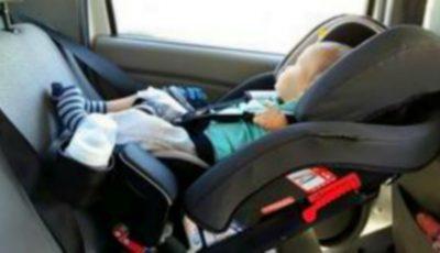 Un moldovean a ajuns pe mâna poliției după ce și-a lăsat copilul singur în mașină