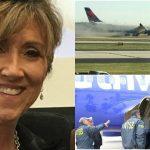 Foto: Eroină! Această femeie a adus la sol avionul cu 149 de oameni, după ce un motor a explodat la 11 km înălțime