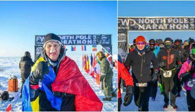 Un moldovean a ocupat locul doi la North Pole Marathon!