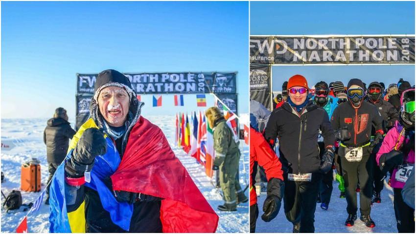 Foto: Un moldovean a ocupat locul doi la North Pole Marathon!